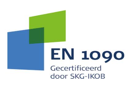 Wij zijn NEN EN 1090 tot en met uitvoeringsklasse 2 gecertificeerd.